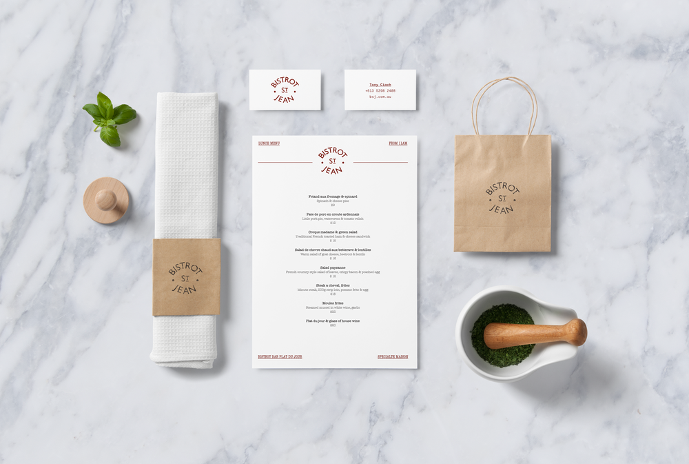 Restaurant branding Geelong Menu graphic design