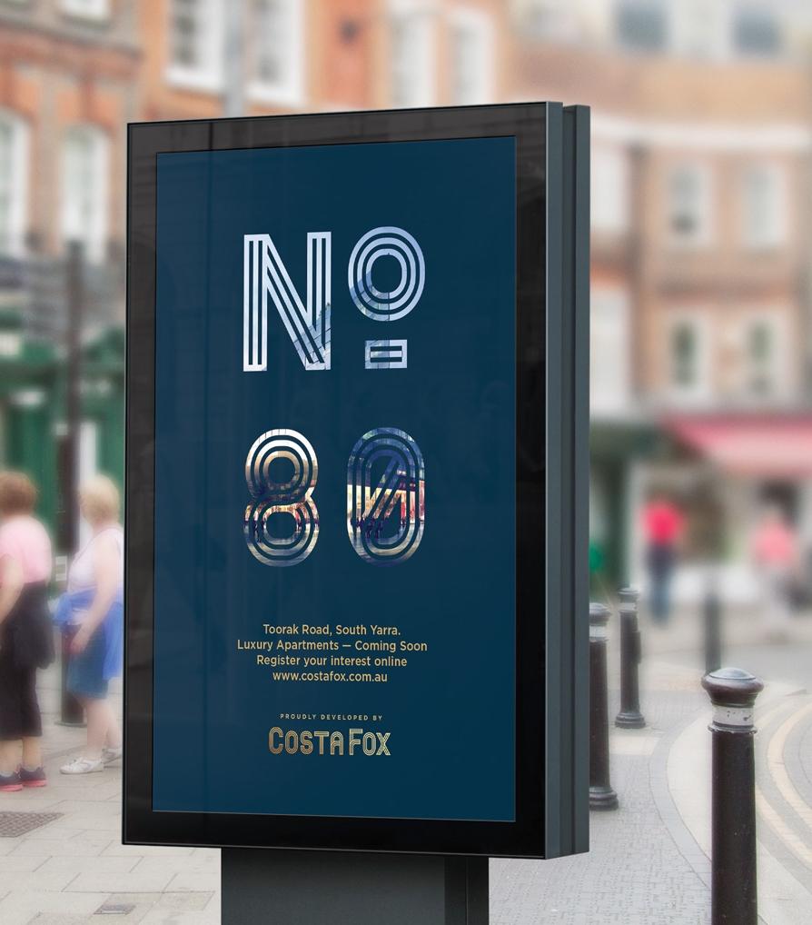 Branding advertising billboard graphic design