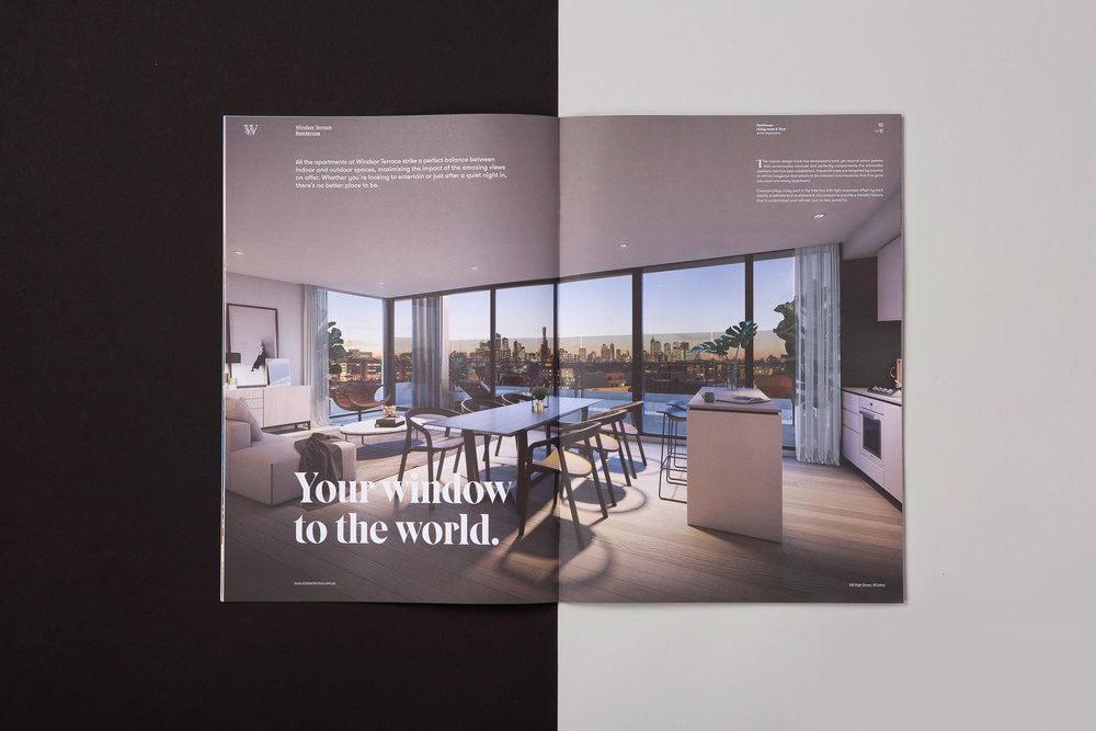 Property branding Melbourne brochure layout graphic design