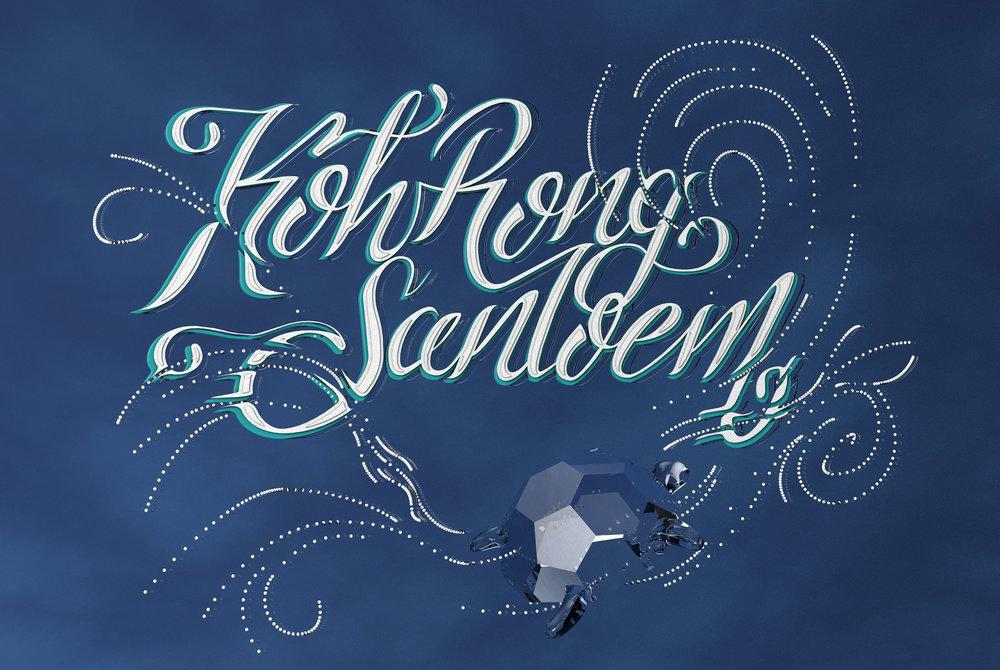 Cinema 4d render typography lettering