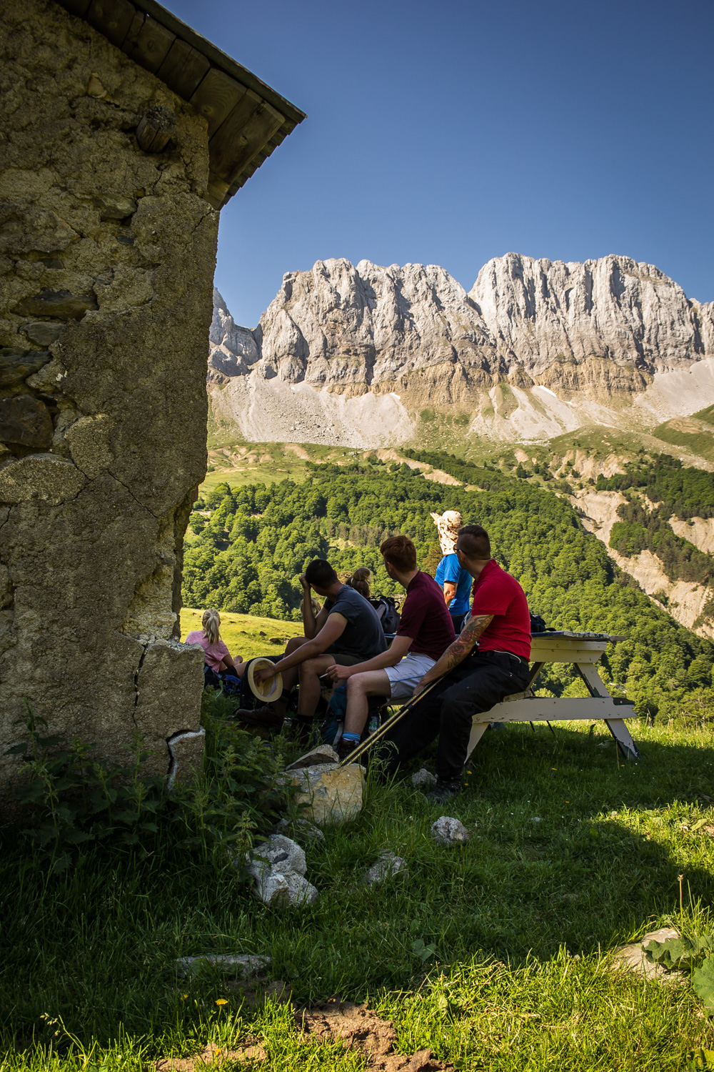 Clients taking a well earned break in the Spanish Pyrenees!