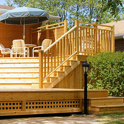 YOUR DREAM DECK   Why have a square platform deck when you can create an outside masterpiece? Think of your yard as a blank canvas and let your imagination do the talking.