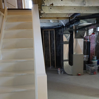 CLEANING UP THE SCARY PLACE   Sometimes it's not about creating an oasis in your basement – sometimes it's about making the most out of what you already have. That might mean cleaning up the electrical or fixing floors and walls so you have clean storage areas.