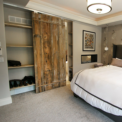 A CLOSET SHOWPIECE    With a little thought, any closet can stand out. A large walk-in can be impressive, but so can that small place in the corner; doors can make the difference.