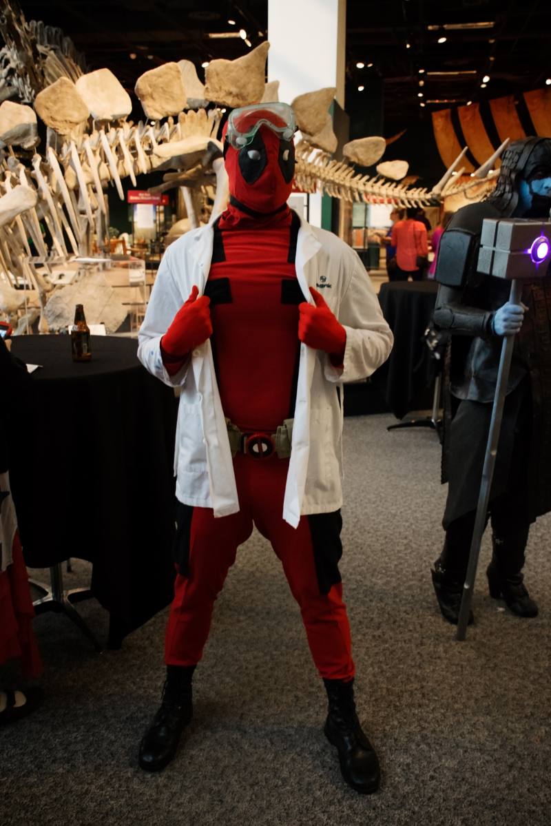 Deadpool as a scientist studying regeneration...