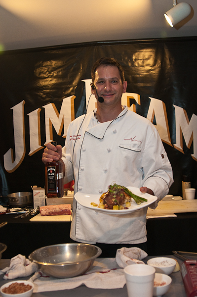 Chef  John Varanese  serves up some great menu items all infused with Jim Beam bourbons.