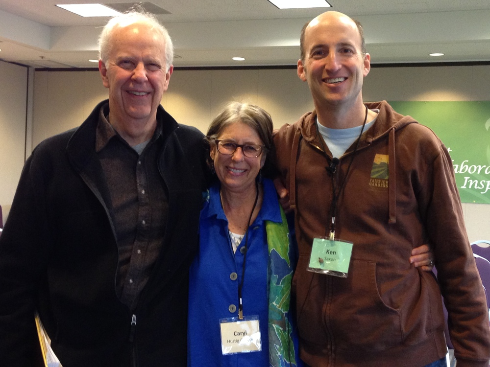 Caryl with Parker Palmer and Ken Saxon, co-modertors of the Global Gathering for Courage & Renewal Facilitators,  2015
