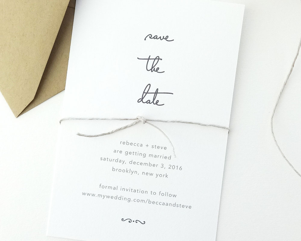 Wedding Invitation Etiquette August White