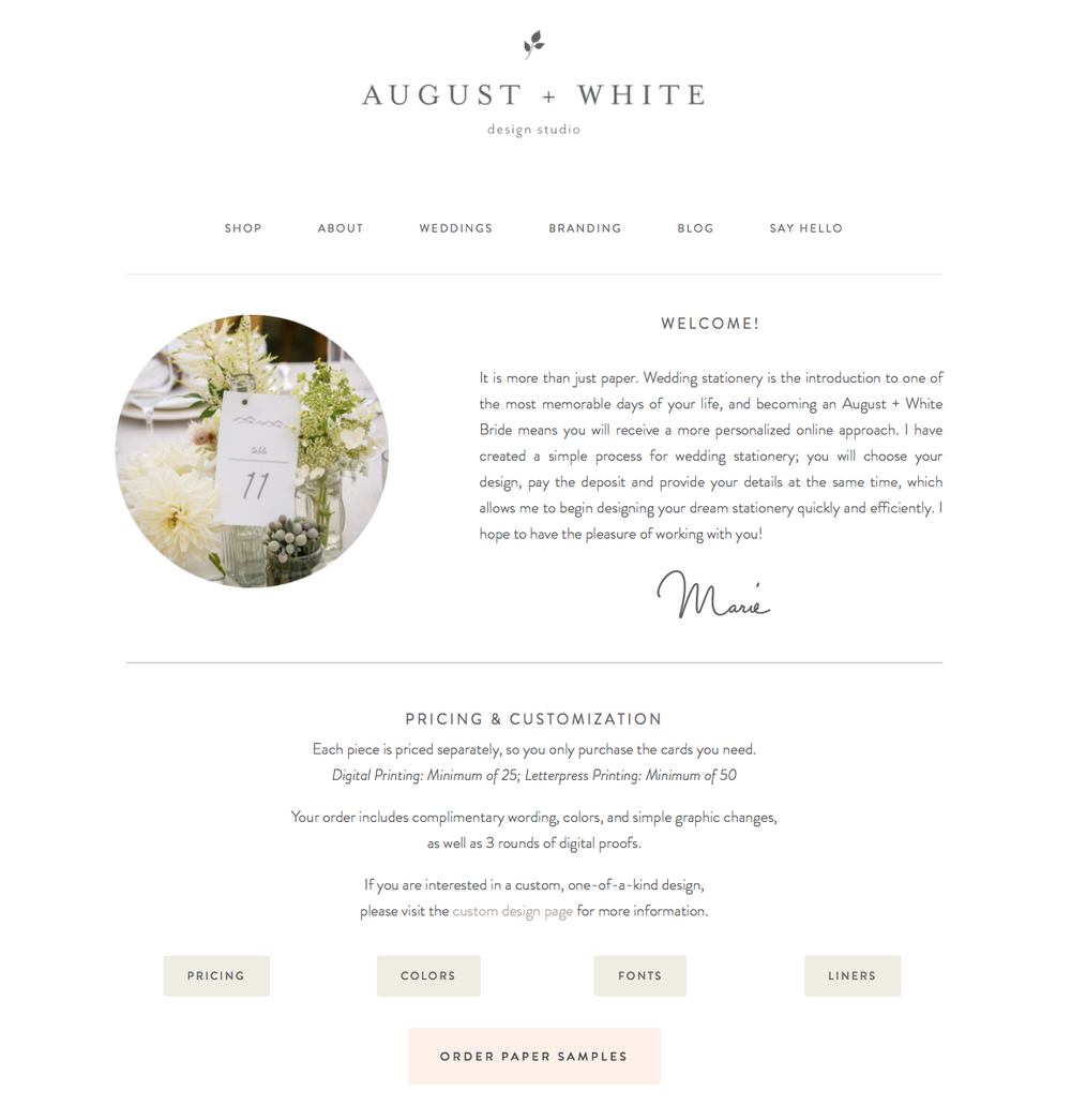 Wedding Invitations August and White