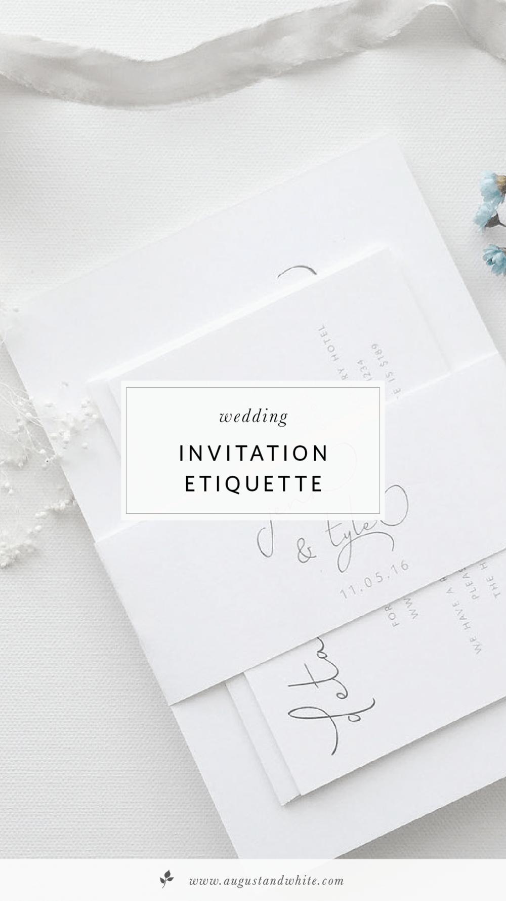 Wedding Invitation Etiquette | August + White