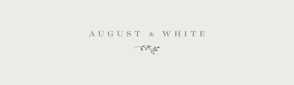 August & White Rebrand    - brand & web -