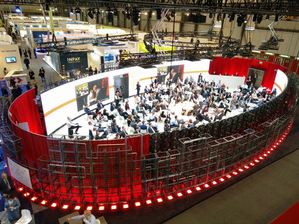 Innotribe's immersive arena at Sibos 2016.