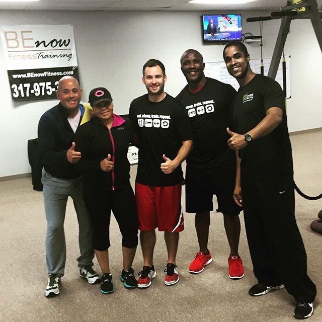 We had fun working out with Sherman from Fox 59 this morning. We worked on the TRX Suspension and RIP Trainer then did a boot camp class. Good work @shermanburdette