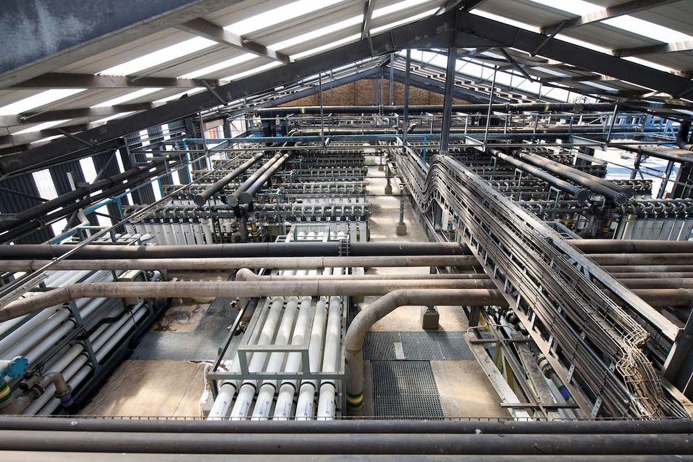 The reverse-osmosis plant