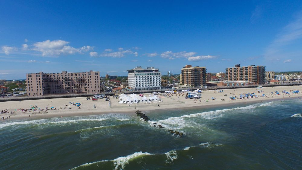 OVERHEAD SHOT OF TASTE ON THE BEACH & SHORTS ON THE BEACH IN 2015