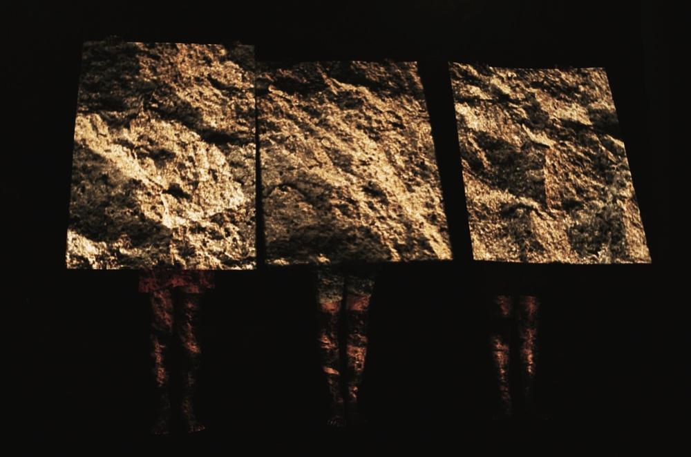 02 - Il Pudore Bene in Vista, 1991, cartoni rocce.jpg