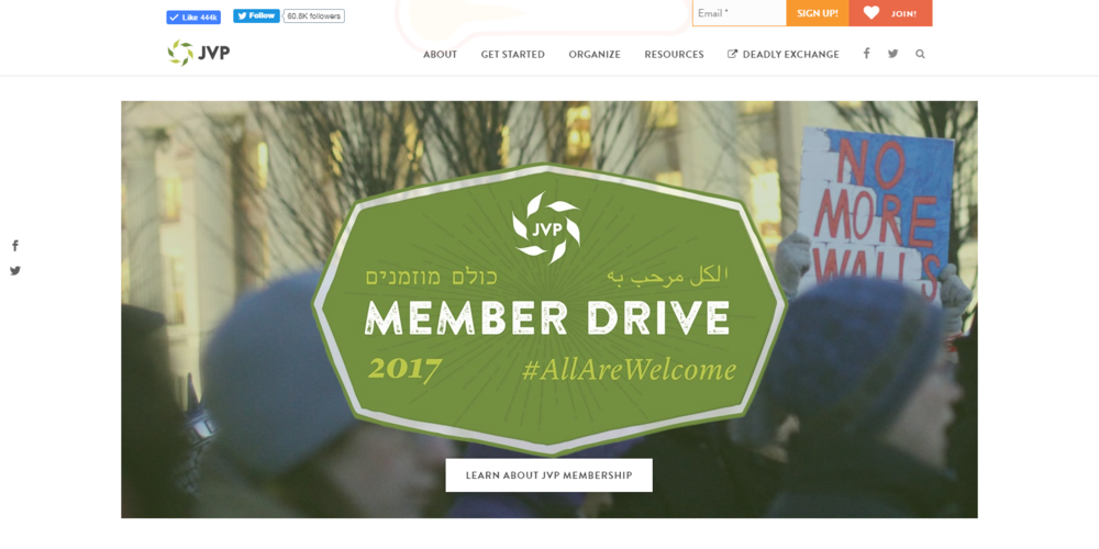 Graphic for JVP's Member Drive