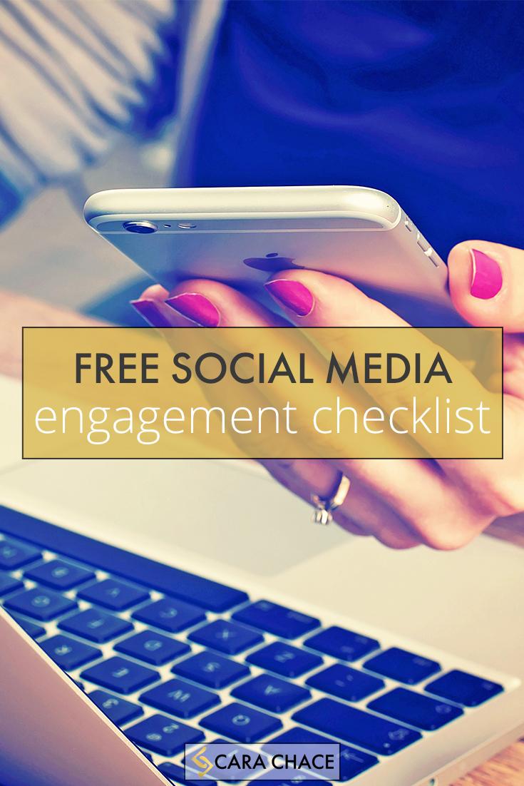 free social media engagement checklist - carachace.com