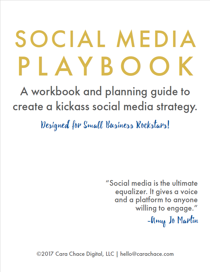 social media playbook cara chace