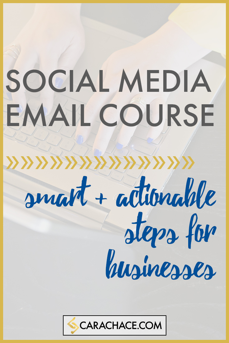social media email course carachace.com