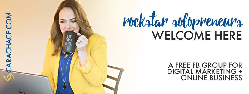 Rockstar Solopreneur Facebook Group Cara Chace