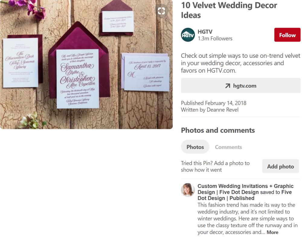 Wedding Invitations HGTV Pin.png