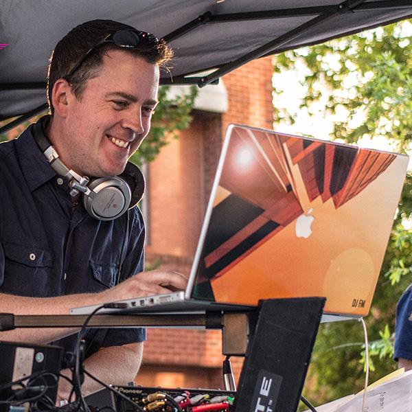 DJ FM in action.