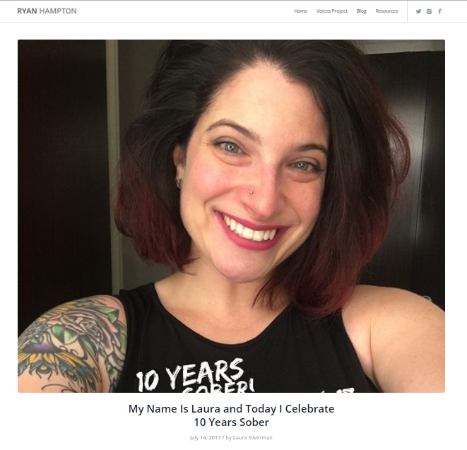 Thank you to Ryan Hampton's #VOICESPROJECT for featuring me on my 10 year anniversary.