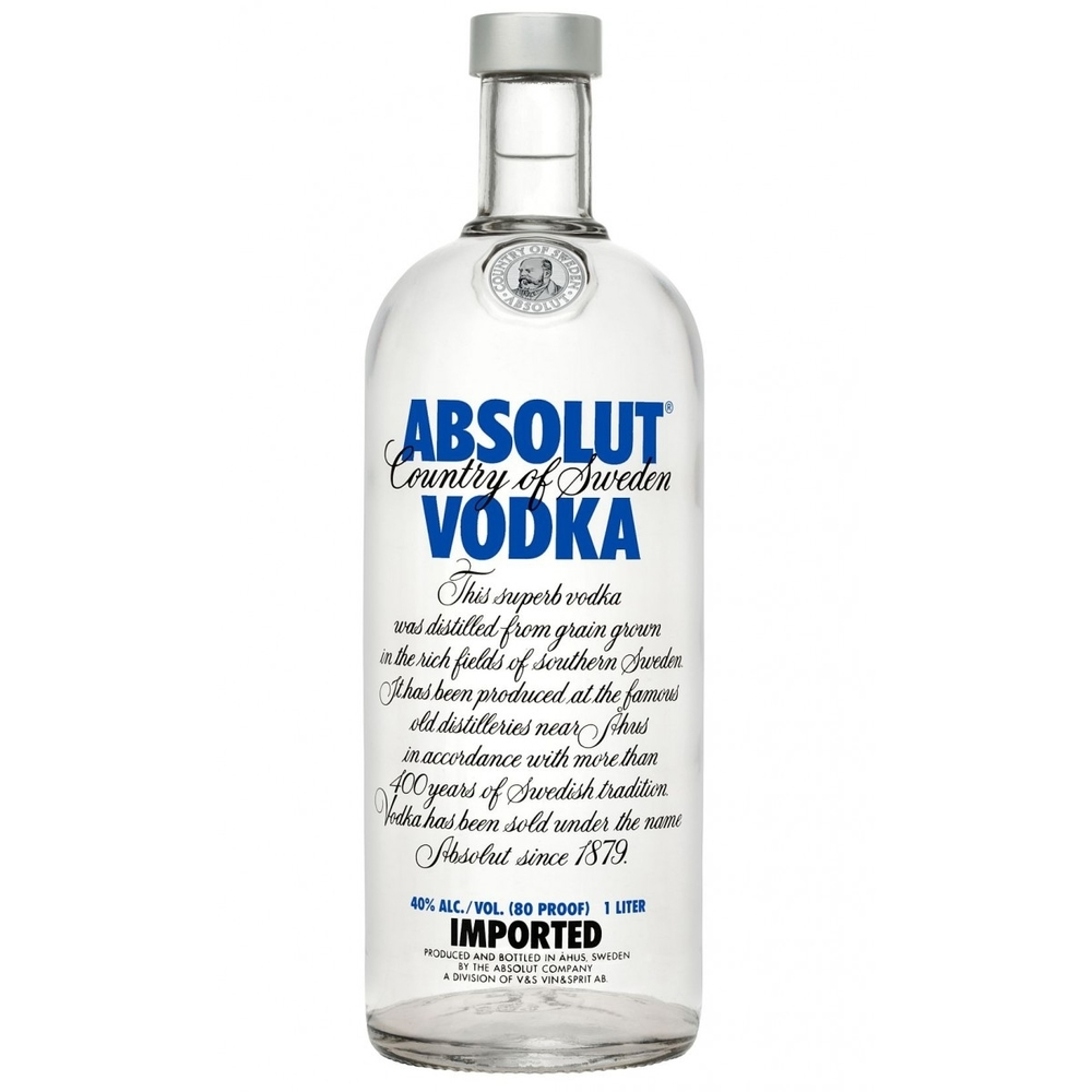 Absolut Vodka 750ml   on sale/ was 22.99   Now $16.99