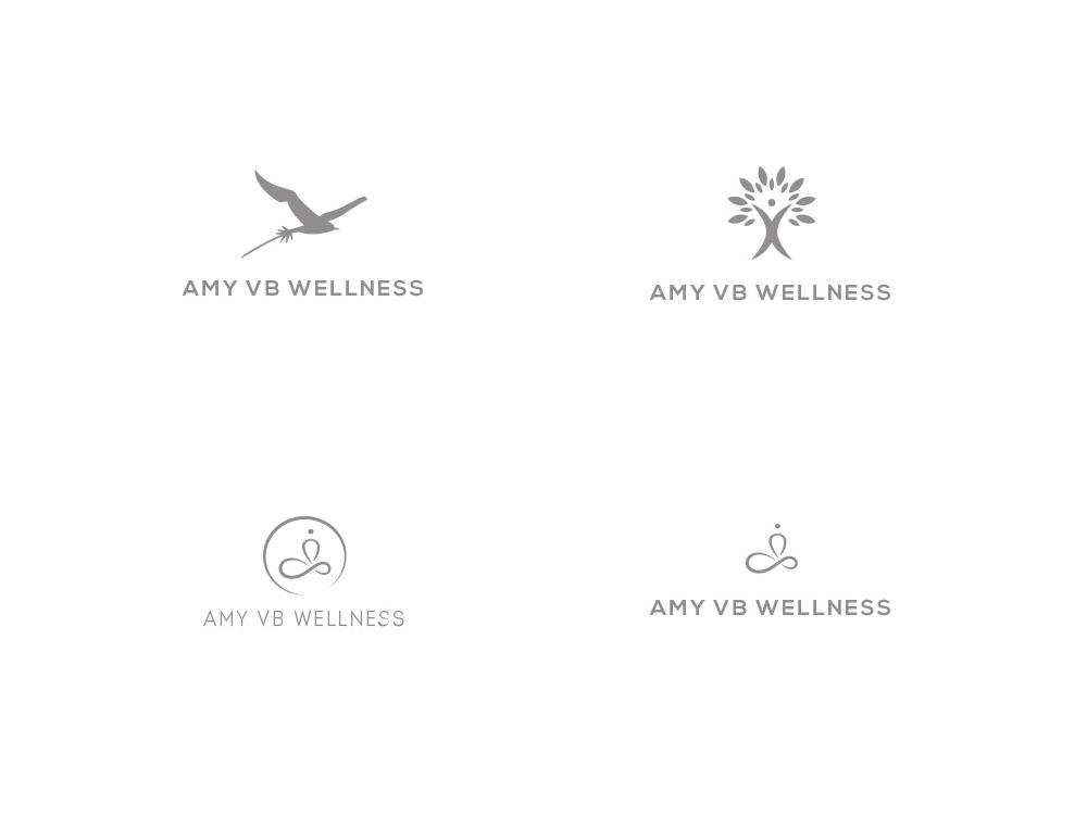 AmyVB Wellness logo concepts