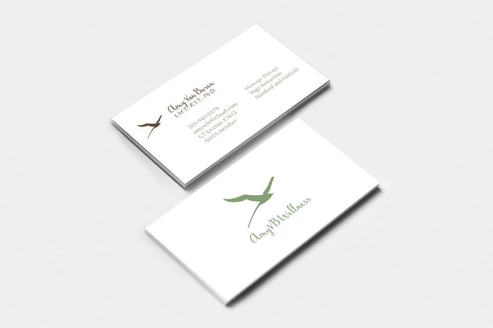 AmyVB Wellness final business card design