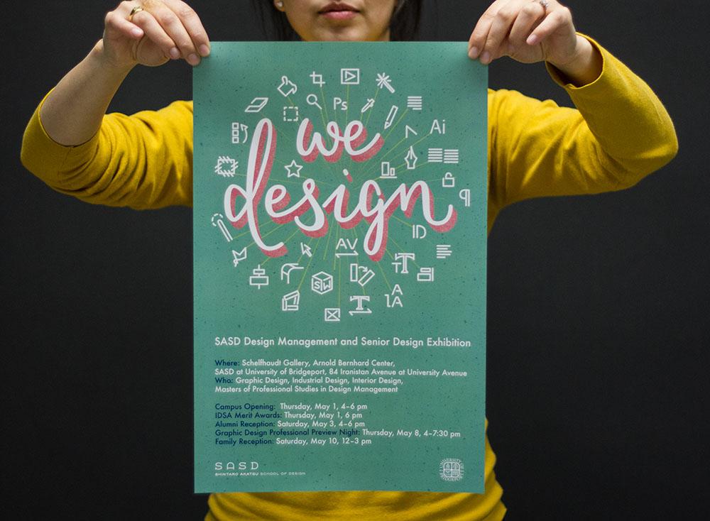 we design poster teal