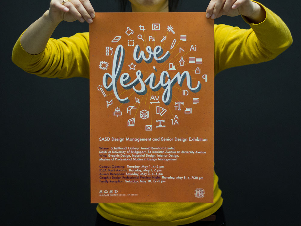 we design poster orange