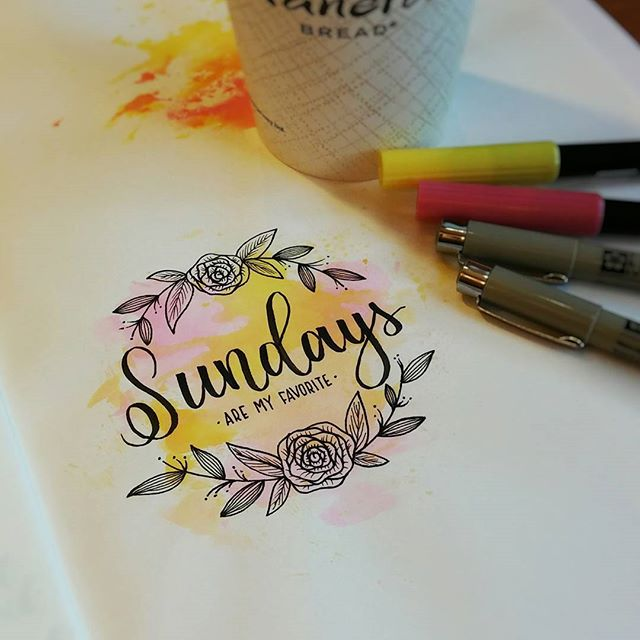 Sundays are my favorite hand lettering