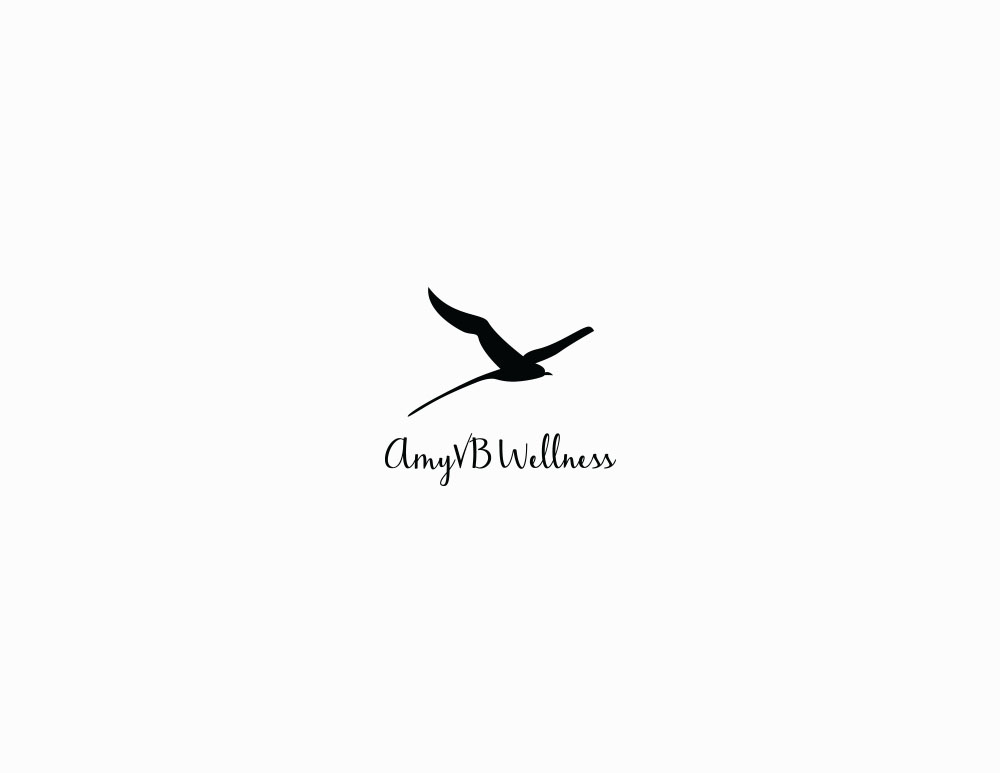 Amy VB Wellness logo design