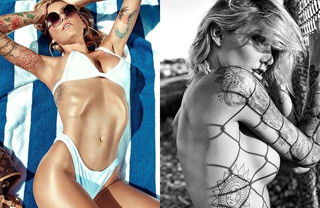 California Dreaming 💙🌴 Nov/Dec Inked Girls Magazine 😎 || Wearing @velvetsphynxswim for @inkedmag #covergirl #inkedgirls #ink #tattoo #todddutkevitch.com