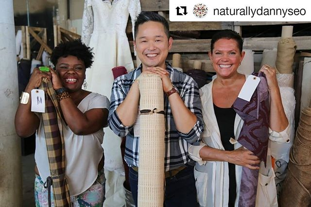 #Repost @naturallydannyseo  What can we do with the massive amounts of textiles that are wasted each year? Magpies and Peacocks has a solution! Saturday on #NaturallyNBC, @DannySeoMag learns how their team transforms unwanted fabrics into new beautiful pieces!