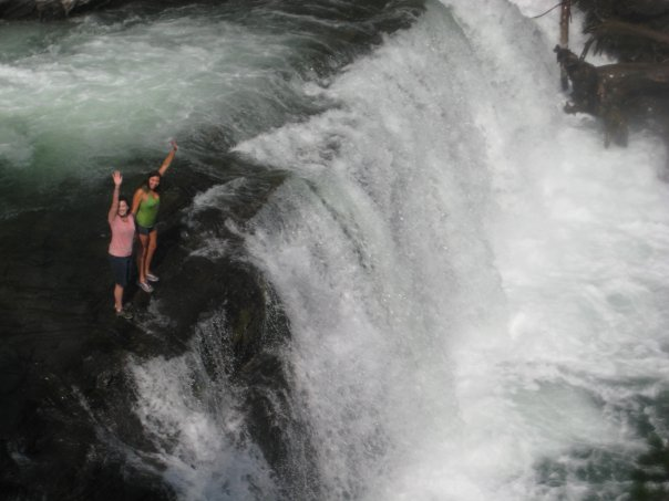 Jumping a waterfall in Montana