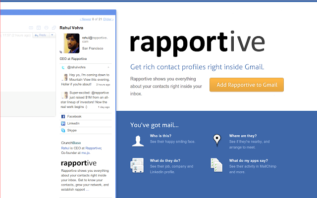 rapportive gmail extension real estate