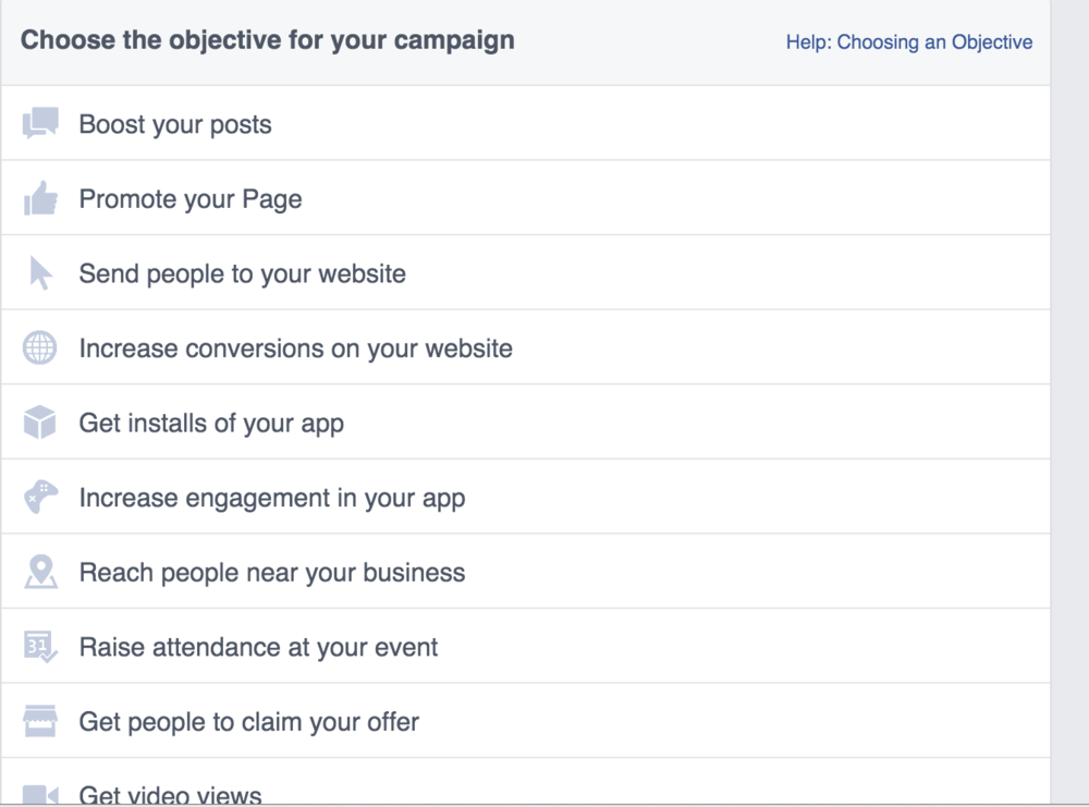 Facebook Ad Objective Real Estate