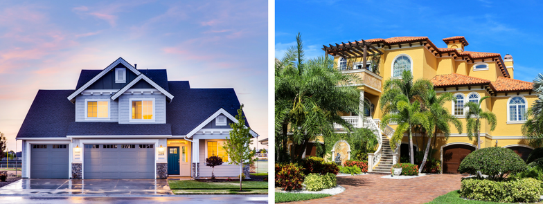One of these houses is way more likely to be broken into (hint: the one on the right), even if the house on the left had a full virtual online.