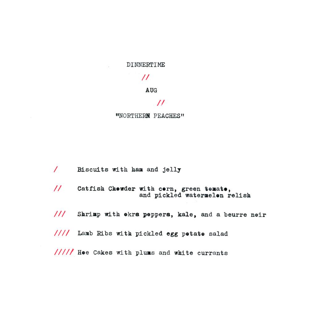DINNERTIME / AUG