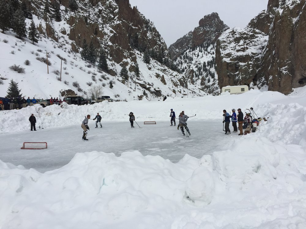 Come join us for the annual Creede Pond Hockey Tournament! Come with a team or we will find one for you. A league and B league are available. You don't want to miss this!