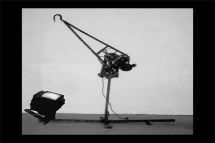 HOOK MACHINE: Aix-en Provence, France 1995  steel, motor, television