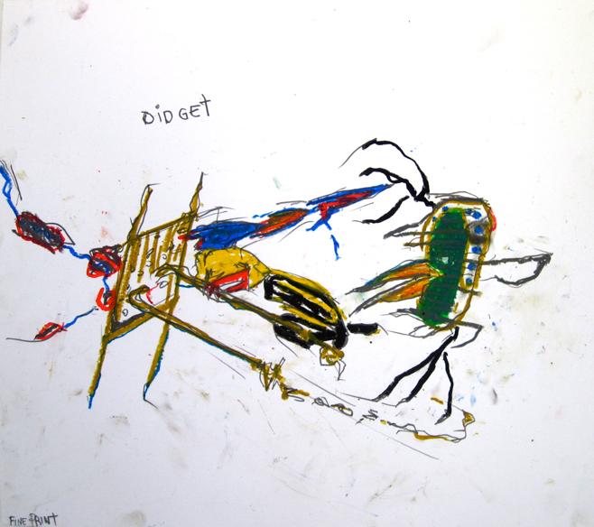 Fine Print, 2007 oil stick on paper