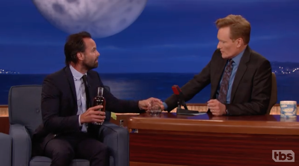 Walton Goggins Mixes Drinks For Conan & Andy Conan, TBS