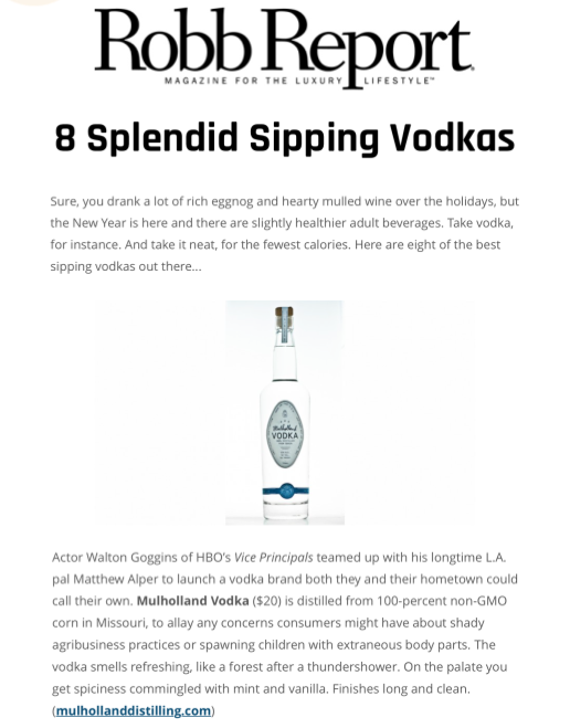 8 Splendid Sipping Vodkas    Robb Report