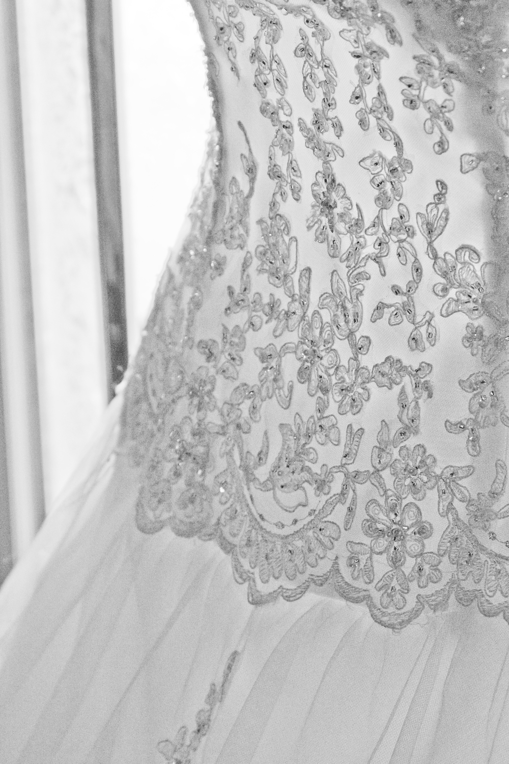 Jenn's dress had some stunning detail in the lace. © 2014 Shealyn McGee-Sarns