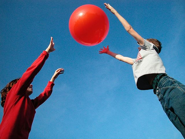 #Jumping for the #red #ball