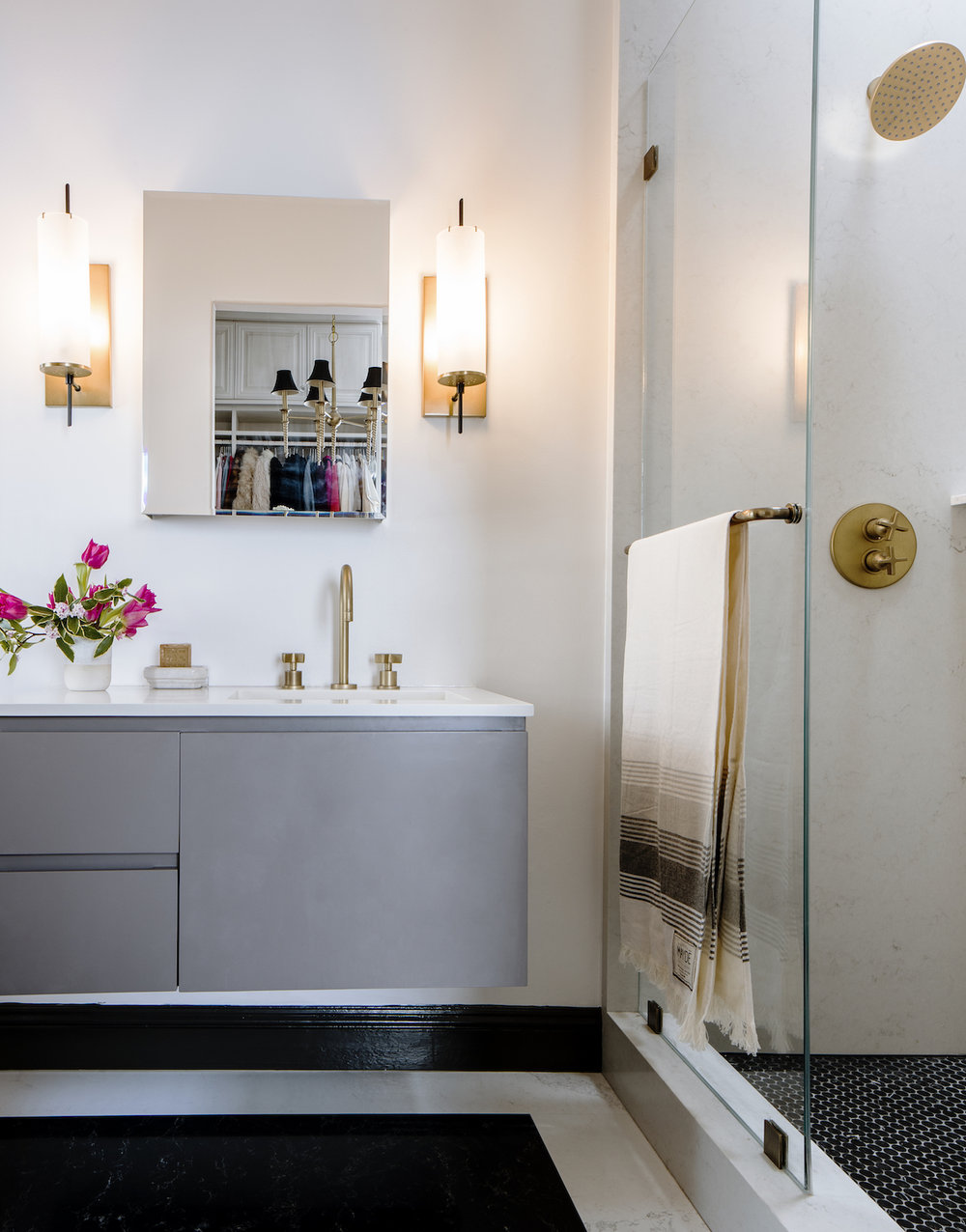 Lynn K. Leonidas | Sunset Willow Master Bathroom